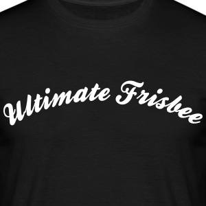 ultimate frisbee cool curved logo - Men's T-Shirt