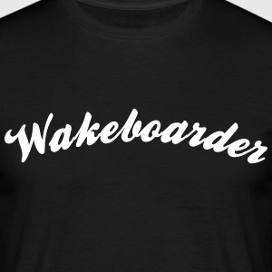 wakeboarder cool curved logo - Men's T-Shirt