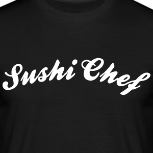 sushi chef cool curved logo - Men's T-Shirt