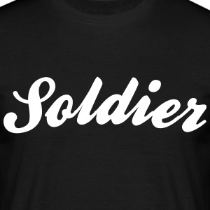 soldier cool curved logo - Men's T-Shirt