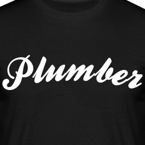 plumber cool curved logo - Men's T-Shirt
