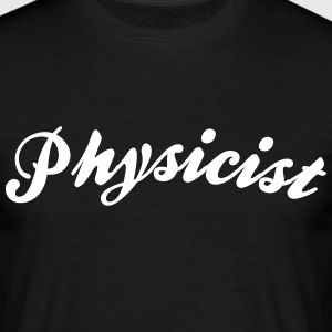 physicist cool curved logo - Men's T-Shirt