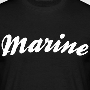 marine cool curved logo - Men's T-Shirt