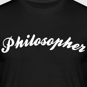 philosopher cool curved logo - Men's T-Shirt