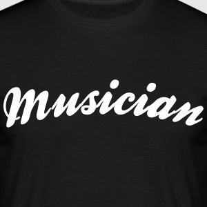 musician cool curved logo - Men's T-Shirt