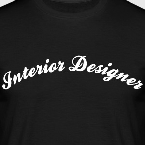 interior designer cool curved logo - Men's T-Shirt