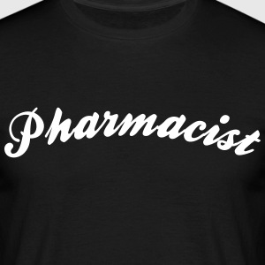 pharmacist cool curved logo - Men's T-Shirt
