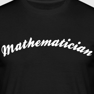 mathematician cool curved logo - Men's T-Shirt