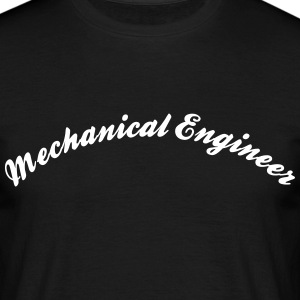 mechanical engineer cool curved logo - Men's T-Shirt