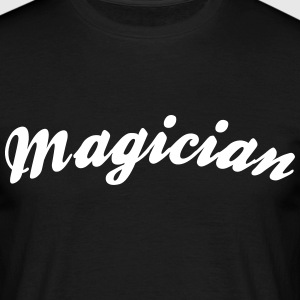 magician cool curved logo - Men's T-Shirt