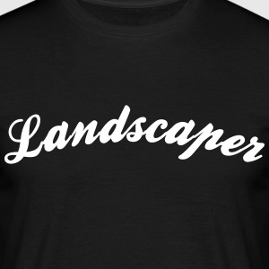 landscaper cool curved logo - Men's T-Shirt