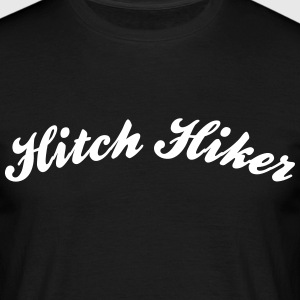 hitch hiker cool curved logo - Men's T-Shirt