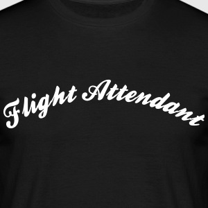 flight attendant cool curved logo - Men's T-Shirt