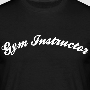 gym instructor cool curved logo - Männer T-Shirt