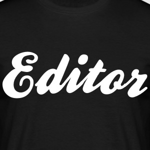 editor cool curved logo - Men's T-Shirt