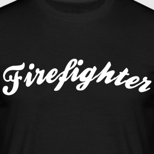 firefighter cool curved logo - Men's T-Shirt