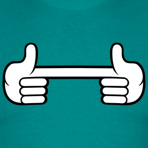 2 hands index finger show design glove cool comic T-Shirts - Men's T-Shirt