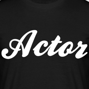 actor cool curved logo - Men's T-Shirt