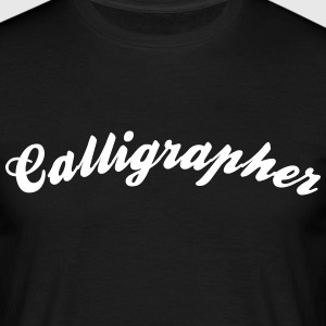 calligrapher cool curved logo - Men's T-Shirt