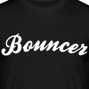 bouncer cool curved logo - Men's T-Shirt