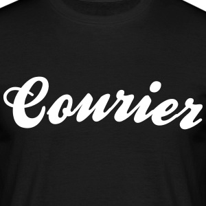courier cool curved logo - Men's T-Shirt