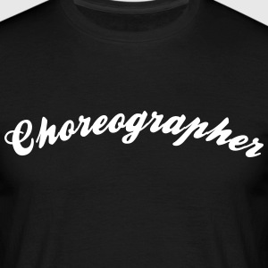 choreographer cool curved logo - Men's T-Shirt