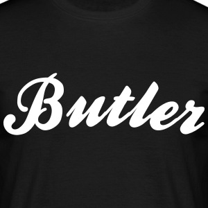 butler cool curved logo - Men's T-Shirt