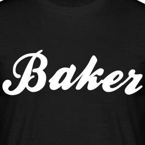 baker cool curved logo - Men's T-Shirt