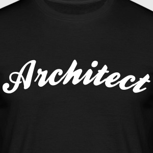 architect cool curved logo - Men's T-Shirt