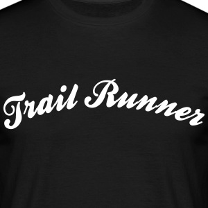 trail runner cool curved logo - Männer T-Shirt