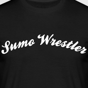 sumo wrestler cool curved logo - Men's T-Shirt