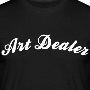 art dealer cool curved logo - Männer T-Shirt