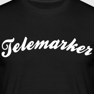 telemarker cool curved logo - Men's T-Shirt