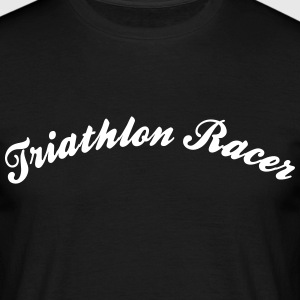 triathlon racer cool curved logo - Men's T-Shirt