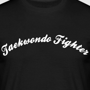 taekwondo fighter cool curved logo - Männer T-Shirt