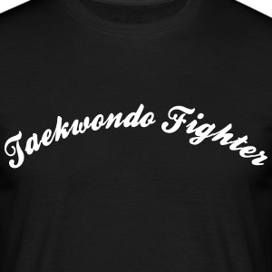 taekwondo fighter cool curved logo - Men's T-Shirt