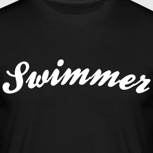 swimmer cool curved logo - Men's T-Shirt
