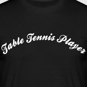 table tennis player cool curved logo - Männer T-Shirt