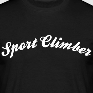 sport climber cool curved logo - Men's T-Shirt