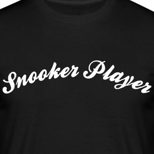 snooker player cool curved logo - Men's T-Shirt