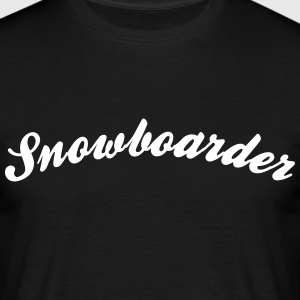 snowboarder cool curved logo - Men's T-Shirt