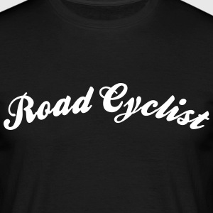 road cyclist cool curved logo - Männer T-Shirt