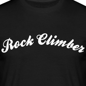 rock climber cool curved logo - Men's T-Shirt