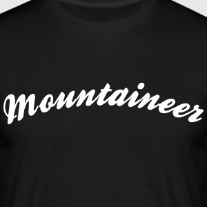 mountaineer cool curved logo - Men's T-Shirt