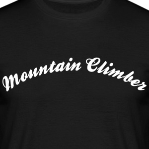 mountain climber cool curved logo - Men's T-Shirt