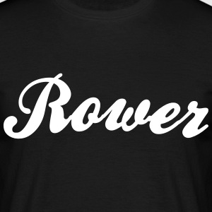 rower cool curved logo - Men's T-Shirt