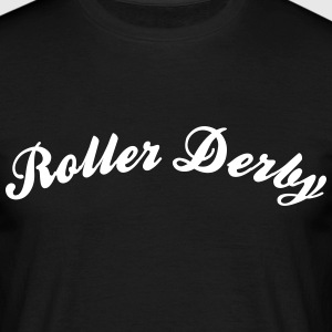 roller derby cool curved logo - Männer T-Shirt