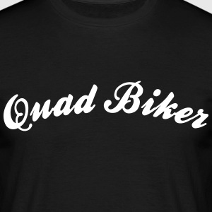 quad biker cool curved logo - Männer T-Shirt