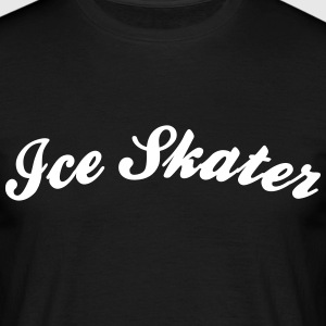 ice skater cool curved logo - Männer T-Shirt