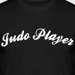 judo player cool curved logo - Men's T-Shirt